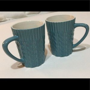 "🦋New Listing🦋Two VTG ""Cable Knit"" Coffee Mugs"